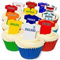 World Cup Teams Edible Wafer Soccer Football Jersey 12pcs