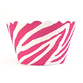Zebra Pink/White Cupcake Wrappers 12pcs