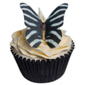 Zebra Print Edible Wafer Butterflies 12pcs