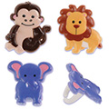 Zoo Animal Cupcake Rings 12pcs