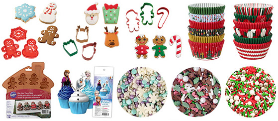 Christmas Cake Decorating Supplies