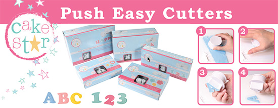 Cake Star Push Easy Cutters