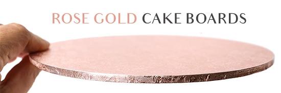 Rose Gold Cake Boards