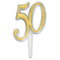 50th Anniversary Cupcake Picks 12pcs