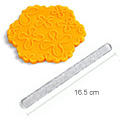 Acrylic Textured Rolling Pin - Whimsical Flowers (16.5cm)