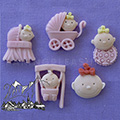 Baby Girl Sugarcraft Silicone Mould