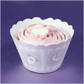 Baby Pink Cupcake Wrappers 12pcs