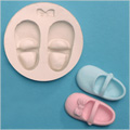 Baby Shoes & Bow Sugarcraft Silicone Mould