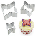 Butterfly Mini Stainless Steel Cutters 3pcs