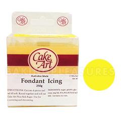 Cake Art Yellow Fondant Plastic Icing 250g
