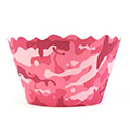 Camouflage Pink Cupcake Wrappers 12pcs