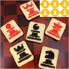 Chess Cookie Stencils