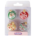 Christmas Bauble Edible Cupcake Toppers 12pcs