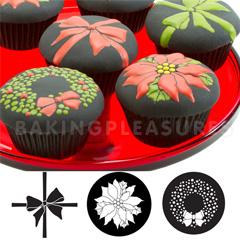 Christmas Cupcake Amp Cookie Texture Tops