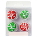 Christmas Snowflake Buttons Edible Cupcake Toppers 12pcs