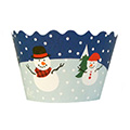 Christmas Snowmen Cupcake Wrappers 12pcs