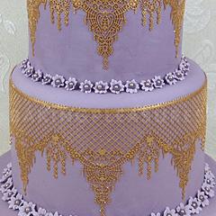 Claire Bowman Cake Lace Pre Mix Gold 500g