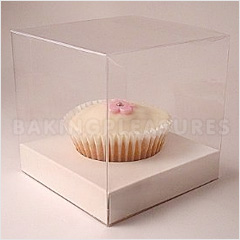 BULK  Clear Cupcake Boxes w White Insert 50pcs