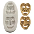 Comedy & Tragedy Mask Sugarcraft Silicone Mould