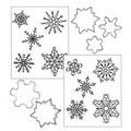 Cookie Texture Sets Christmas Snowflake