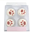 Dog Pawprint Edible Cupcake Toppers 12pcs