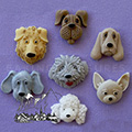 Alphabet Moulds Dogs Silicone Mould