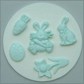 Alphabet Moulds Easter Silicone Mould
