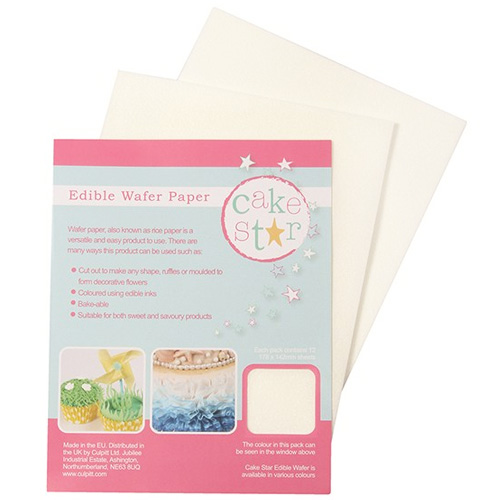 edible paper Blank wafer paper or rice paper is same thing, different names a white sugar free edible slightly translucent paper that can be printed on with food doodler pens or.