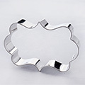 Elegant Plaque Stainless Steel Cookie Cutter
