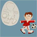 Funky Footballer Sugarcraft Silicone Mould