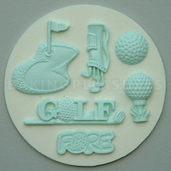 Golf Themed Moulds For Cake Decorating