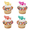 Happy Birthday Cupcake Picks 12pcs