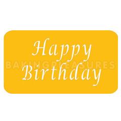Happy Birthday Stencil