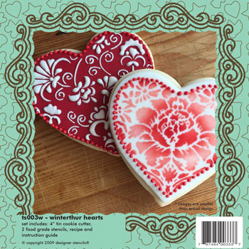 Hearts Cookie Cutter & Stencil Set
