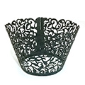 Ivy Pearl Gunmetal Black Lace Cupcake Wrappers 12pcs