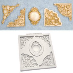 Katy Sue Decorative Corner Collection Silicone Mould
