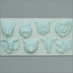 Alphabet Moulds Large Animal Heads Silicone Mould