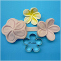 Large Frangipani Cutter & Veiner Set 35mm