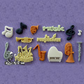 Alphabet Moulds Music Silicone Mould