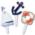 Nautical Cupcake Picks 12pcs