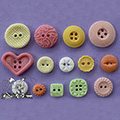 Patterned Buttons Sugarcraft Silicone Mould