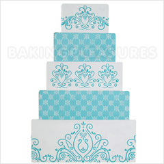 lace templates for cakes - princess lace cake stencil 4
