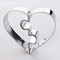 Puzzle Heart Stainless Steel Cookie Cutter (2 pcs)