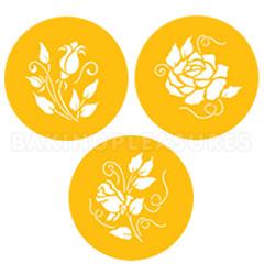 Rose Cookie Stencils