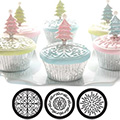 Scroll Cupcake & Cookie Texture Tops 3pcs