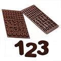 Silikomart Number 123 Silicone Chocolate Mould 1pc