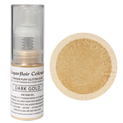Sugarflair Edible Glitter Dust Spray Dark Gold 10g