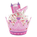 Wilton Princess Cupcake Wraps & Picks 12pcs