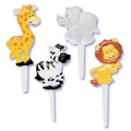 Zoo Animals Cupcake Picks 12pcs